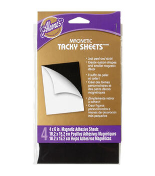 """Aleene's Magnetic Tacky Sheets 4""""X6"""" 4/Pkg-"""