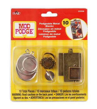Mod Podgeable Metal Blanks 10/Pkg