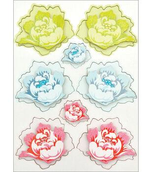 "Kaisercraft Miss Nelly Layered Chipboard 8.25""X5.75""-Flower Elements"