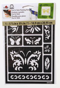 FolkArt ® Peel & Stick Painting Stencils™ - Butterfly