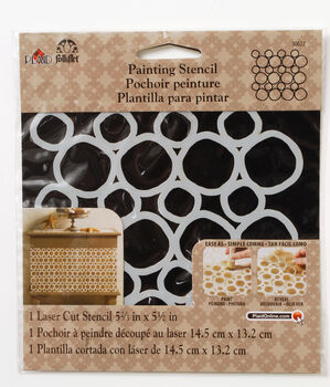 FolkArt ® Painting Stencils - Small - Pebble Background