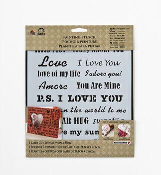FolkArt ® Painting Stencils - Laser - Words/Phrases - Love