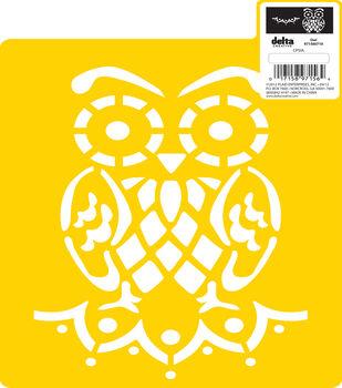 """Delta Stencil Mania™ - Owl, 7"""" x 10"""""""