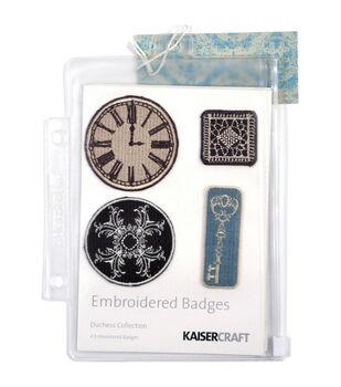 Kaisercraft Embroidered Badges-4PK/Duchess