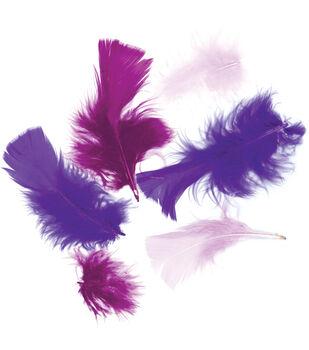 Zucker-Turkey Plumage Feathers .5 Ounces-Purple