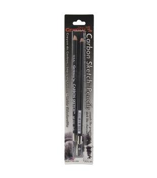 General Pencil Carbon Sketch Pencils & Sharpener-2 Pencils