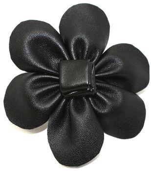 Laliberi Quick Clip Flowers 1/Pkg-Leather Black
