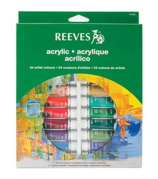 Reeves Acrylic Paints 10ml 24/Pkg-Assorted Colors