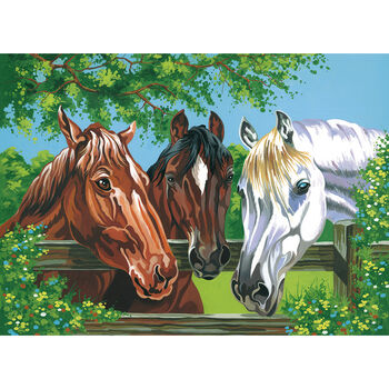 Reeves Paint By Number Kit Horses