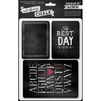 Record It! All Things Chalk Journaling Cards 108/Pkg-