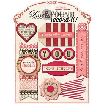 My Mind's Eye Lost & Found Record It! Layered Stickers Heirloom