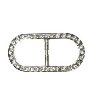 Laliberi Rhinestone Pin - Crystal Oval Scarf Ring