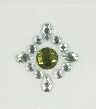 Laliberi Green Crest Iron-On-Gem Clusters 3 pack