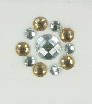 Laliberi Topaz Border Iron-On-Gem Clusters 3 pack