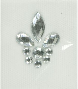 Laliberi Fleur de Lis Iron-On-Gem Clusters 3 pack