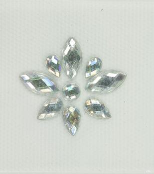 Laliberi Crystal AB Firework Iron-On-Gem Clusters 3 pack
