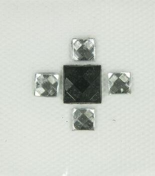 Laliberi 4 Square Black Iron-On-Gem Clusters 4 pack