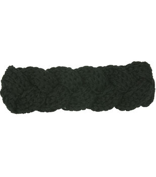 Laliberi Winter Knit Braided Headwrap In Black