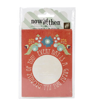 """Now & Then Izzy Journaling Cards 3""""X4"""" 24/Pkg-Good Times"""