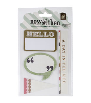 Now & Then Mildred Sticky Notes-Hello