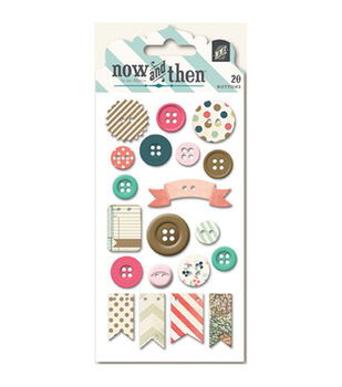 Now & Then Mildred Decorative Buttons-Oh Happy Day