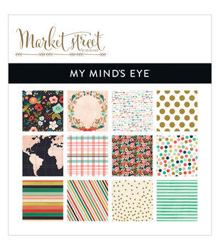 "My Mind's Eye Paper Pad 6""X6"" 24/Pkg-Market Street Ashbury Heights"