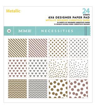 "My Mind's Eye Paper Pad 6""X6"" 24/Pkg-Necessities/Metallic"