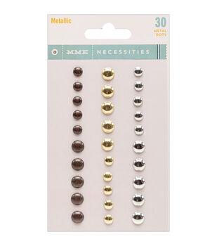 Necessities Adhesive Metal Dots 30/Pkg-Metallic