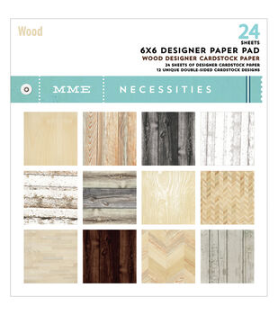 "My Mind's Eye Paper Pad 6""X6"" 24/Pkg-Necessities/Wood"