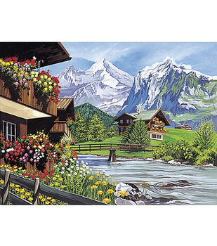 12''x15-1/2'' Paint By Number Kit-Mountain Scene