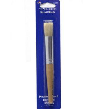 Plaid Natural Stencil Brush-5/8''/Natural