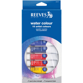 Reeves Watercolor Paint 10ml 12/Pkg-Assorted Colors