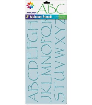Delta Stencil Magic 2'' Letter Design Stencils-Papyrus Alphabet