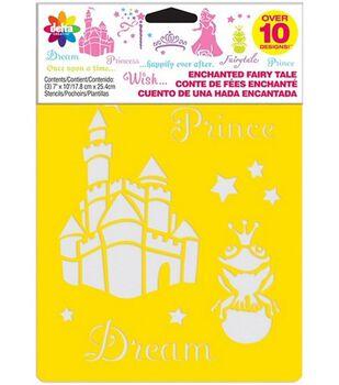 Delta Stencil Mania 3 Pack Value Stencils-Enchanted Fairytale
