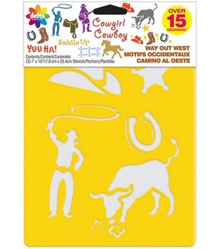 Delta Stencil Mania 3 Pack Value Stencils-Way Out West