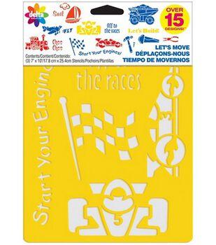 Delta Stencil Mania 3 Pack Value Stencils-Let's Move