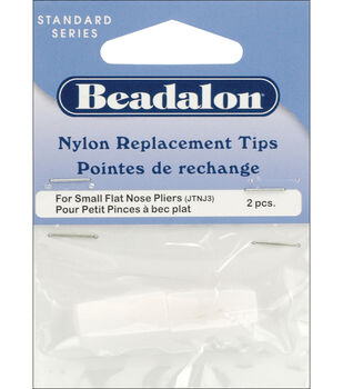 Nylon Flat Nose Pliers Replacement Tips 2/Pkg-.75