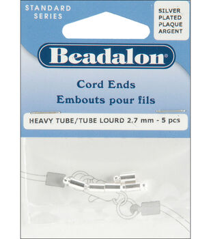 Cord Ends 5/Pk-Silver Plated