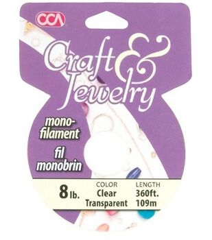 Cousin Craft & Jewelry #8 Monofilament Cord-360Ft/Clear