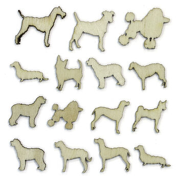 Studio Calico Here & There Laser-Cut Wood Veneer Shapes Dogs
