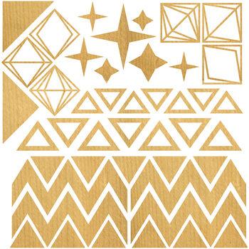 Studio Calico Laser-Cut Wood Veneer Shapes Triangles & Diamonds