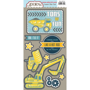 Adorn-It Construction Laser Die-Cuts Tons Of Fun