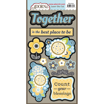 Adorn-It Family Patchwork Laser Die-Cuts Blessings