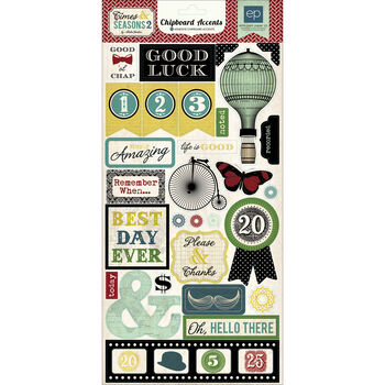 Echo Park Paper Company Times & Seasons 2 Chipboard Accents
