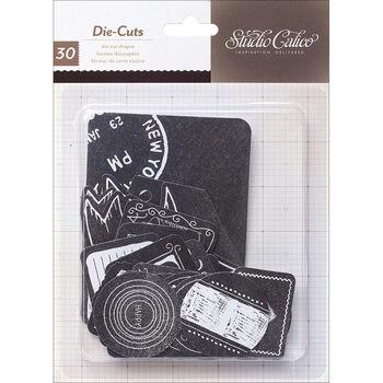 Studio Calico Thataway Cardstock Die-Cuts Chalkboard Labels & Banners