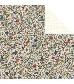 Adorn-It Chamberry Double-Sided Cardstock Paper Garden