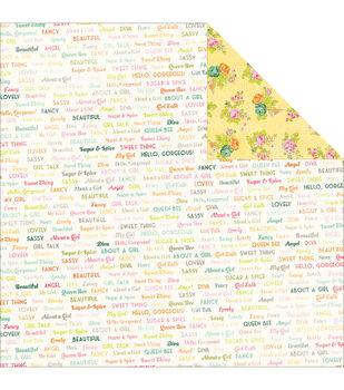 Adorn-It Viva La Glam Double-Sided Cardstock Paper Wordplay