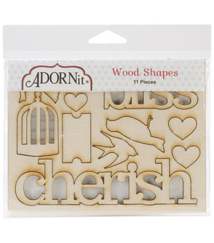 Adorn-It Chamberry Wood Shapes