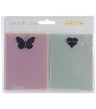 """Lemonlush Vellum Journal Cards 3""""X4"""" 8/Pkg-W/Stitched Die-Cut Shapes"""
