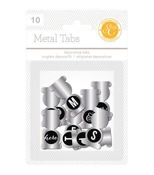 Lemonlush Foldover Metal Tabs W/Epoxy Tops 10/Pkg-